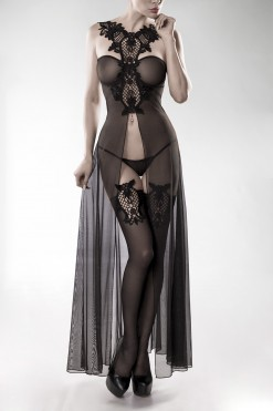musta eroottinen setti 15264 - Grey Velvet