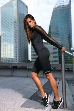 short Sports Leggings - Fitness Pants L9043 - XL