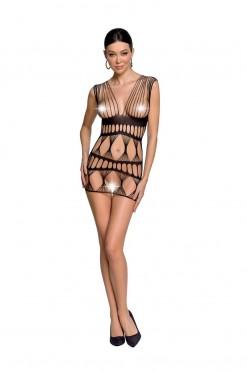 black mesh mini dress BS089 - S/L