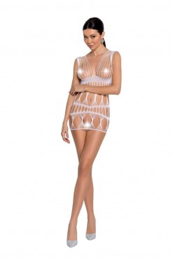 white mesh mini dress BS089 - S/L