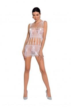 white mesh mini dress BS090 - S/L